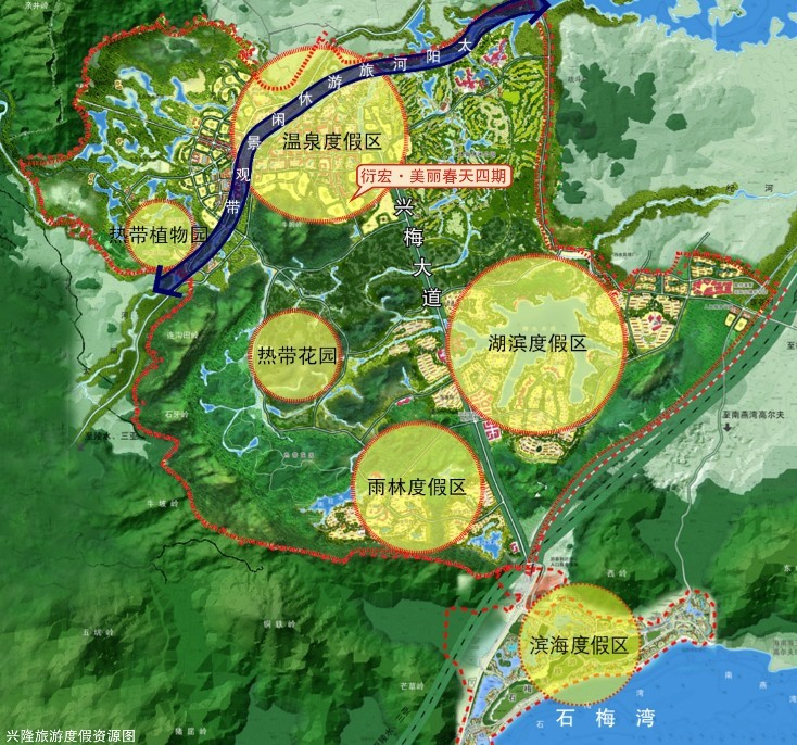 (兴隆旅游区规划图)